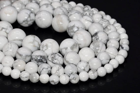 Genuine Natural Howlite Loose Beads Round Shape 6mm 8mm 10mm 15mm