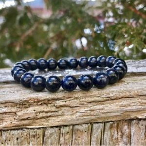 Shop Iolite Bracelets! Dainty Dark Iolite Bracelet 7mm Grade A Dark Purple Iolite Beaded Natural Gemstone Bracelet Dark Violet Iolite Creative Expression Bracelet | Natural genuine Iolite bracelets. Buy crystal jewelry, handmade handcrafted artisan jewelry for women.  Unique handmade gift ideas. #jewelry #beadedbracelets #beadedjewelry #gift #shopping #handmadejewelry #fashion #style #product #bracelets #affiliate #ad