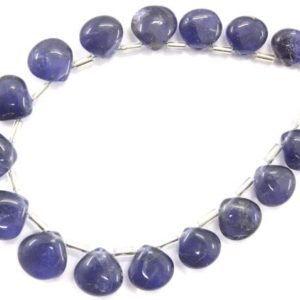 Shop Iolite Bead Shapes! 17 Pieces Natural Iolite Gemstone, smooth Heart Shape Iolite Briolette Beads, size 9-11 Mm Blue Iolite Smooth Heart Making Jewelry Wholesale | Natural genuine other-shape Iolite beads for beading and jewelry making.  #jewelry #beads #beadedjewelry #diyjewelry #jewelrymaking #beadstore #beading #affiliate #ad