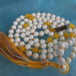 Shop Jade Necklaces! White Jade Mala Bead Necklace 108 – Prayer Bead Necklace – Knotted Mala Yoga Necklace – Chakra 108 Mala Wrap Bracelet Necklace – | Natural genuine Jade necklaces. Buy crystal jewelry, handmade handcrafted artisan jewelry for women.  Unique handmade gift ideas. #jewelry #beadednecklaces #beadedjewelry #gift #shopping #handmadejewelry #fashion #style #product #necklaces #affiliate #ad