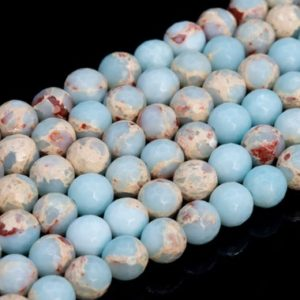 Shop Jasper Beads! Icy Blue Imperial Jasper Loose Beads Micro Faceted Round Shape 6mm 7-8mm 9mm | Natural genuine beads Jasper beads for beading and jewelry making.  #jewelry #beads #beadedjewelry #diyjewelry #jewelrymaking #beadstore #beading #affiliate #ad