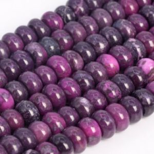 Shop Jasper Rondelle Beads! Deep Purple Jasper Loose Beads Grade Rondelle Shape 6x4mm 8x5mm | Natural genuine rondelle Jasper beads for beading and jewelry making.  #jewelry #beads #beadedjewelry #diyjewelry #jewelrymaking #beadstore #beading #affiliate #ad