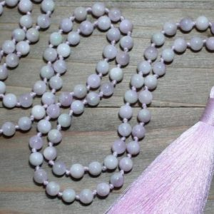 Shop Kunzite Necklaces! Heart Chakra Jewelry, Heart Chakra Mala, Heart Chakra Stone Jewelry, Metaphysical Jewelry, Pink Mala Beads, Kunzite Mala, Valentines Gift | Natural genuine Kunzite necklaces. Buy crystal jewelry, handmade handcrafted artisan jewelry for women.  Unique handmade gift ideas. #jewelry #beadednecklaces #beadedjewelry #gift #shopping #handmadejewelry #fashion #style #product #necklaces #affiliate #ad