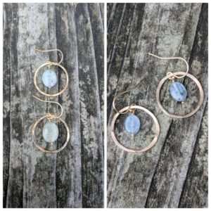 Shop Kyanite Earrings! Hammered kyanite earrings. Gold kyanite earrings. Silver kyanite earrings.  Green and blue kyanite avail | Natural genuine Kyanite earrings. Buy crystal jewelry, handmade handcrafted artisan jewelry for women.  Unique handmade gift ideas. #jewelry #beadedearrings #beadedjewelry #gift #shopping #handmadejewelry #fashion #style #product #earrings #affiliate #ad