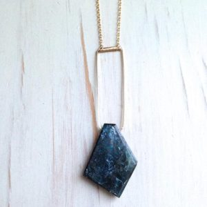 Shop Kyanite Necklaces! Kyanite Necklace Kyanite Jewelry Raw Gemstone Necklace | Natural genuine Kyanite necklaces. Buy crystal jewelry, handmade handcrafted artisan jewelry for women.  Unique handmade gift ideas. #jewelry #beadednecklaces #beadedjewelry #gift #shopping #handmadejewelry #fashion #style #product #necklaces #affiliate #ad