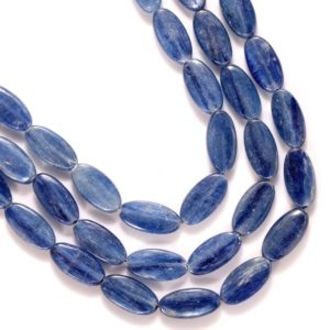 Shop Kyanite Bead Shapes! Kyanite Smooth Oval Beads, Kyanite Oval beads, Good Quality, Natural Kyanite Stone | Natural genuine other-shape Kyanite beads for beading and jewelry making.  #jewelry #beads #beadedjewelry #diyjewelry #jewelrymaking #beadstore #beading #affiliate #ad