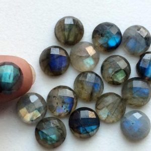 Shop Labradorite Stones & Crystals! 10mm Labradorite Rose Cut Round Flat Back Cabochons, Labradorite Flat Back Cabochons, Faceted Round Cabs For Jewelry (5pcs T0 10pcs Options) | Natural genuine stones & crystals in various shapes & sizes. Buy raw cut, tumbled, or polished gemstones for making jewelry or crystal healing energy vibration raising reiki stones. #crystals #gemstones #crystalhealing #crystalsandgemstones #energyhealing #affiliate #ad