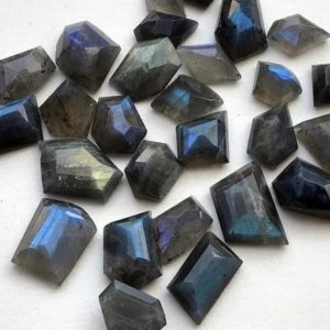 Shop Labradorite Cabochons! 15-20mm Labradorite Fancy Cut Cabochons, Blue Fire Rose Cut Flat Back Cabochons, Labradorite For Jewelry, 5 Pieces Labradorite  – NS3314 | Natural genuine stones & crystals in various shapes & sizes. Buy raw cut, tumbled, or polished gemstones for making jewelry or crystal healing energy vibration raising reiki stones. #crystals #gemstones #crystalhealing #crystalsandgemstones #energyhealing #affiliate #ad