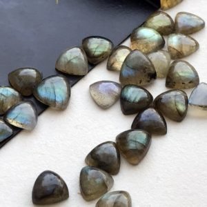 Shop Labradorite Cabochons! 8-9mm Labradorite Plain Trillion Cabochons, Labradorite Flat Back Cabochons For Jewelry, Labradorite Blue Fire Stone (5pcs To 10pcs Options) | Natural genuine stones & crystals in various shapes & sizes. Buy raw cut, tumbled, or polished gemstones for making jewelry or crystal healing energy vibration raising reiki stones. #crystals #gemstones #crystalhealing #crystalsandgemstones #energyhealing #affiliate #ad