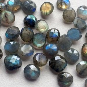 Shop Labradorite Cabochons! 8-9mm Labradorite Rose Cut Cabochons, Labradorite Flat Back Cabochons, Faceted Fancy Rose Cut Cabocchons For Jewelry (5pcs To 10pcs Options) | Natural genuine stones & crystals in various shapes & sizes. Buy raw cut, tumbled, or polished gemstones for making jewelry or crystal healing energy vibration raising reiki stones. #crystals #gemstones #crystalhealing #crystalsandgemstones #energyhealing #affiliate #ad