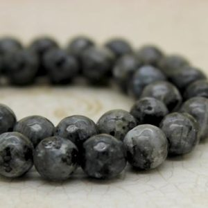 Shop Labradorite Faceted Beads! Chinese Labradorite Faceted Round Gemstone Beads (8mm) | Natural genuine faceted Labradorite beads for beading and jewelry making.  #jewelry #beads #beadedjewelry #diyjewelry #jewelrymaking #beadstore #beading #affiliate #ad