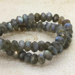 Shop Labradorite Faceted Beads! Natural Labradorite, Labradorite Faceted Rondelle Loose Gemstone Stone Beads | Natural genuine faceted Labradorite beads for beading and jewelry making.  #jewelry #beads #beadedjewelry #diyjewelry #jewelrymaking #beadstore #beading #affiliate #ad
