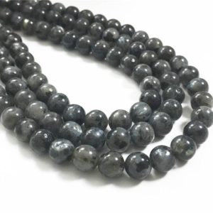 8mm Black Labradorite Beads, Round Gemstone Beads, Wholesale Beads | Natural genuine round Array beads for beading and jewelry making.  #jewelry #beads #beadedjewelry #diyjewelry #jewelrymaking #beadstore #beading #affiliate #ad