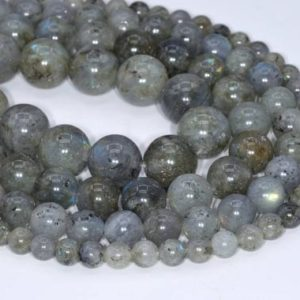 Genuine Natural Light Gray Labradorite Loose Beads Grade A Round Shape 6mm 8mm 10mm 12mm | Natural genuine round Gemstone beads for beading and jewelry making.  #jewelry #beads #beadedjewelry #diyjewelry #jewelrymaking #beadstore #beading #affiliate #ad