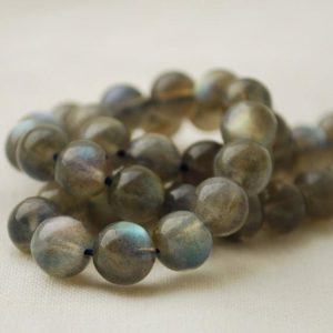 "Shop Labradorite Round Beads! High Quality Grade AAA Natural Labradorite Semi-Precious Gemstone Round Beads – 6mm, 8mm – 15"" strand 