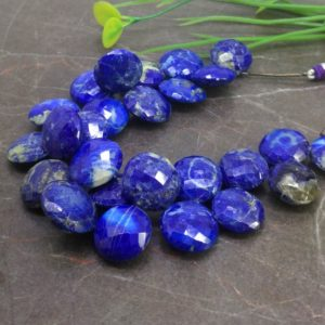 Shop Lapis Lazuli Faceted Beads! Natural Lapis Lazuli 14-16mm Faceted Round Briolette Beads / Approx 26 pieces on 8 Inch long strand / JBC-ET-148704 | Natural genuine faceted Lapis Lazuli beads for beading and jewelry making.  #jewelry #beads #beadedjewelry #diyjewelry #jewelrymaking #beadstore #beading #affiliate #ad
