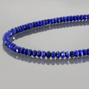 Shop Lapis Lazuli Necklaces! Lapis Lazuli Beads Necklace, 4mm natural lapis lazuli necklace, semi precious stone necklace, navy blue bead necklace, Gemstone necklace | Natural genuine Lapis Lazuli necklaces. Buy crystal jewelry, handmade handcrafted artisan jewelry for women.  Unique handmade gift ideas. #jewelry #beadednecklaces #beadedjewelry #gift #shopping #handmadejewelry #fashion #style #product #necklaces #affiliate #ad