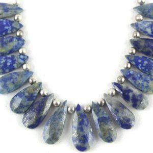 Shop Lapis Lazuli Bead Shapes! 1 Strand Natural Lapis Lazuli Pear Shape Faceted 8×16.5-9.5x22mm Beads,Lapis Beads,Lapis Lazuli,Faceted Pear Beads,Blue Color Beads (17 Pcs) | Natural genuine other-shape Lapis Lazuli beads for beading and jewelry making.  #jewelry #beads #beadedjewelry #diyjewelry #jewelrymaking #beadstore #beading #affiliate #ad