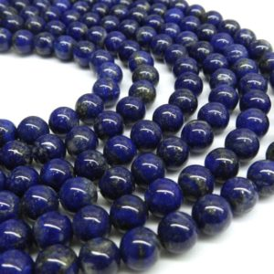 Lapis Beads, Half Strand, Lapis Lazuli, 8mm Beads, Ultramarine, Blue Beads, Dark Blue Beads, Blue Gemstone Beads, Blue Gemstone 8mm Gemstone | Natural genuine beads Array beads for beading and jewelry making.  #jewelry #beads #beadedjewelry #diyjewelry #jewelrymaking #beadstore #beading #affiliate #ad
