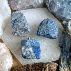 Shop Lapis Lazuli Stones & Crystals! lapis lazuli Raw stone necklace crystal healing | Natural genuine stones & crystals in various shapes & sizes. Buy raw cut, tumbled, or polished gemstones for making jewelry or crystal healing energy vibration raising reiki stones. #crystals #gemstones #crystalhealing #crystalsandgemstones #energyhealing #affiliate #ad