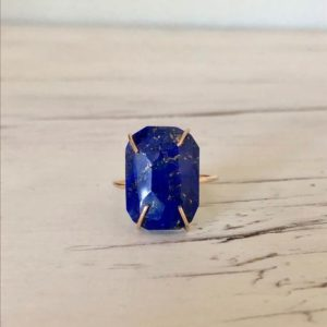 Shop Lapis Lazuli Jewelry! Lapis Ring Gemstone Ring Lapis Jewelry | Natural genuine Lapis Lazuli jewelry. Buy crystal jewelry, handmade handcrafted artisan jewelry for women.  Unique handmade gift ideas. #jewelry #beadedjewelry #beadedjewelry #gift #shopping #handmadejewelry #fashion #style #product #jewelry #affiliate #ad