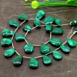 Shop Malachite Beads! Natural Malachite 13-21mm Smooth Pear Gemstone Beads / Approx 22 Pieces On 12 Inch Long Strand / Jbc-et-153838 | Natural genuine beads Malachite beads for beading and jewelry making.  #jewelry #beads #beadedjewelry #diyjewelry #jewelrymaking #beadstore #beading #affiliate #ad