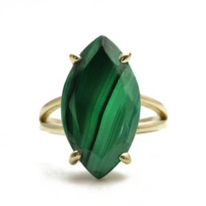 Shop Malachite Rings! Malachite ring,14k gold ring,green gemstone ring,statement gem ring,natural stone ring,semiprecious ring,energy love ring for women | Natural genuine Malachite rings, simple unique handcrafted gemstone rings. #rings #jewelry #shopping #gift #handmade #fashion #style #affiliate #ad