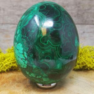 Malachite Crystal Egg –  1260.117 | Natural genuine stones & crystals in various shapes & sizes. Buy raw cut, tumbled, or polished gemstones for making jewelry or crystal healing energy vibration raising reiki stones. #crystals #gemstones #crystalhealing #crystalsandgemstones #energyhealing #affiliate #ad
