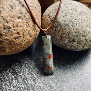 Shop Bloodstone Necklaces! Man Necklace,Man Leather Necklace, Mens Necklace,Bloodstone Necklace, Man Stone Necklace,Mens Leather Necklace,Man Jewelry,Necklace For Man | Natural genuine Bloodstone necklaces. Buy handcrafted artisan men's jewelry, gifts for men.  Unique handmade mens fashion accessories. #jewelry #beadednecklaces #beadedjewelry #shopping #gift #handmadejewelry #necklaces #affiliate #ad