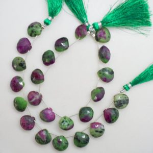 Shop Ruby Zoisite Faceted Beads! Natural Ruby Zoisite Faceted Heart Shape Gemstone Beads, 8 Inch Strand, Wholesale Ruby Zoisite Gemstone Beads, Ruby Gemstone Beads | Natural genuine faceted Ruby Zoisite beads for beading and jewelry making.  #jewelry #beads #beadedjewelry #diyjewelry #jewelrymaking #beadstore #beading #affiliate #ad