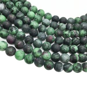 Shop Ruby Zoisite Round Beads! Matte Ruby Zoisite Round Beads,6mm 8mm 10mm 12mm Gemstone Beads ,Approx 15.5 Inch Strand | Natural genuine round Ruby Zoisite beads for beading and jewelry making.  #jewelry #beads #beadedjewelry #diyjewelry #jewelrymaking #beadstore #beading #affiliate #ad