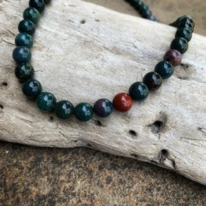 Shop Bloodstone Necklaces! Men's Bloodstone necklace, fully beaded bloodstone necklace | Natural genuine Bloodstone necklaces. Buy crystal jewelry, handmade handcrafted artisan jewelry for women.  Unique handmade gift ideas. #jewelry #beadednecklaces #beadedjewelry #gift #shopping #handmadejewelry #fashion #style #product #necklaces #affiliate #ad