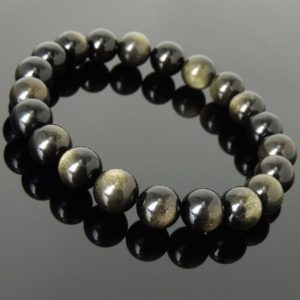Shop Golden Obsidian Bracelets! Men's Women Golden Obsidian Bracelet Natural Healing Gemstone Crystal Healing DiyNotion BR999 | Natural genuine Golden Obsidian bracelets. Buy crystal jewelry, handmade handcrafted artisan jewelry for women.  Unique handmade gift ideas. #jewelry #beadedbracelets #beadedjewelry #gift #shopping #handmadejewelry #fashion #style #product #bracelets #affiliate #ad