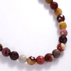 Shop Mookaite Jasper Faceted Beads! 40 Cms Mookaite Gemstone Beads , Faceted Mookaite Stone Beads cts 104 Strand , 6MM Stone Beads – Natural Mookaite Strand | Natural genuine faceted Mookaite Jasper beads for beading and jewelry making.  #jewelry #beads #beadedjewelry #diyjewelry #jewelrymaking #beadstore #beading #affiliate #ad