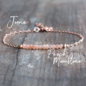 Shop Moonstone Bracelets! June Birthstone Bracelet Gift for Women, Delicate Pink Moonstone Bracelet, Peach Moonstone Jewelry, June Birthday Gifts for Her | Natural genuine Moonstone bracelets. Buy crystal jewelry, handmade handcrafted artisan jewelry for women.  Unique handmade gift ideas. #jewelry #beadedbracelets #beadedjewelry #gift #shopping #handmadejewelry #fashion #style #product #bracelets #affiliate #ad
