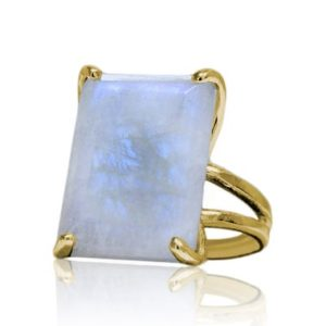 Shop Moonstone Rings! 14k gold moonstone ring,rectangle ring,gemstone ring,June birthstone ring,long ring,large raw ring,semiprecious ring | Natural genuine Moonstone rings, simple unique handcrafted gemstone rings. #rings #jewelry #shopping #gift #handmade #fashion #style #affiliate #ad