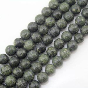 Shop Emerald Round Beads! Natural Emerald Green Beads, Round Stone Beads , emerald Green Gemstone Beads One Full Strand, stone Beads -15-16 Inches -ns-078 | Natural genuine round Emerald beads for beading and jewelry making.  #jewelry #beads #beadedjewelry #diyjewelry #jewelrymaking #beadstore #beading #affiliate #ad