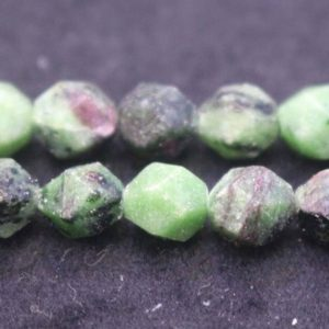 Natural Faceted Ruby Zoisite Nugget Beads,Ruby Zoisite Beads,6mm 8mm 10mm Star Cut Faceted beads,one strand 15"