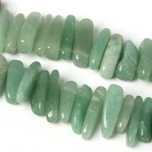 "Shop Jade Chip & Nugget Beads! Natural Green Jade Chip Beads, 10-30mm 15"" Strand, 50 pcs 