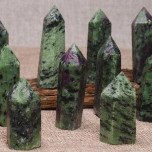 Shop Ruby Zoisite Points & Wands! Natural Ruby in Zoisite Quartz Tower,Ruby in Zoisite Crystal Quartz Point,Healing Stone,Obelisk Point,Crystal Grids,Energy Balancing,Reiki | Natural genuine stones & crystals in various shapes & sizes. Buy raw cut, tumbled, or polished gemstones for making jewelry or crystal healing energy vibration raising reiki stones. #crystals #gemstones #crystalhealing #crystalsandgemstones #energyhealing #affiliate #ad