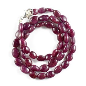 Shop Ruby Chip & Nugget Beads! Natural Ruby Nugget Beads Gemstone Smooth Ruby Oval Nuggets Ruby Oval Nugget 13.5 Inch Necklace 6-10 MM (RGP72-05) | Natural genuine chip Ruby beads for beading and jewelry making.  #jewelry #beads #beadedjewelry #diyjewelry #jewelrymaking #beadstore #beading #affiliate #ad
