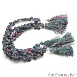 Natural Ruby Zoisite, Ruby Zoisite Rondelle Bead, Meditation Bracelet, Earring Pair, Silver Wire, Briolettes Bead, GemMartUSA (DRRZ-70001) | Natural genuine other-shape Ruby Zoisite beads for beading and jewelry making.  #jewelry #beads #beadedjewelry #diyjewelry #jewelrymaking #beadstore #beading #affiliate #ad