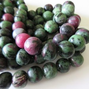Shop Ruby Round Beads! Natural Ruby Zoisite Smooth Large Round Beads, Ruby Zoisite Rondelles 12mm To 19mm, 8 Inch Half Strand, DDS524 | Natural genuine round Ruby beads for beading and jewelry making.  #jewelry #beads #beadedjewelry #diyjewelry #jewelrymaking #beadstore #beading #affiliate #ad