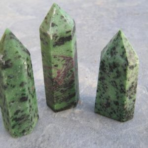 ONE (1) Ruby Zoisite Point, Matte Polished Gemstone Tower, Obelisk Mineral Specimen, Meditation Stone, Reiki, 2 1/2-3 1/8 inches 60mm – 78mm | Natural genuine stones & crystals in various shapes & sizes. Buy raw cut, tumbled, or polished gemstones for making jewelry or crystal healing energy vibration raising reiki stones. #crystals #gemstones #crystalhealing #crystalsandgemstones #energyhealing #affiliate #ad