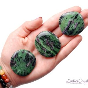 Shop Ruby Zoisite Stones & Crystals! One Ruby In Zoisite Smooth Stone, Ruby Zoisite Healing Smooth Stones, Healing Ruby Zoisite Crystals, Ruby Zoisite Healing Smooth Stones | Natural genuine stones & crystals in various shapes & sizes. Buy raw cut, tumbled, or polished gemstones for making jewelry or crystal healing energy vibration raising reiki stones. #crystals #gemstones #crystalhealing #crystalsandgemstones #energyhealing #affiliate #ad
