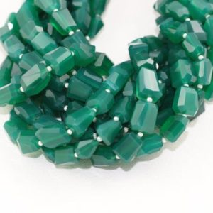 Shop Onyx Chip & Nugget Beads! 1 Strand Natural Green Onyx Faceted Nuggets Beads 7-10mm Approx 14 Inch Long Good Quality, onyx Beads, green Onyx, nuggets Green Onyx Beads | Natural genuine chip Onyx beads for beading and jewelry making.  #jewelry #beads #beadedjewelry #diyjewelry #jewelrymaking #beadstore #beading #affiliate #ad