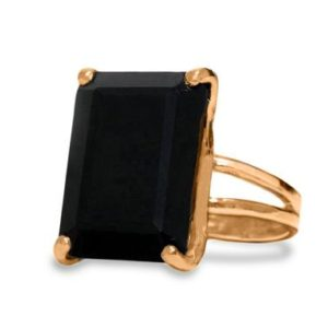 Black Onyx Ring · Rectangle Ring · Rose Gold Ring · Fine Ring · 14k Gold Ring · Solid Gold Ring · Gemstone Rings For Women | Natural genuine Onyx rings, simple unique handcrafted gemstone rings. #rings #jewelry #shopping #gift #handmade #fashion #style #affiliate #ad