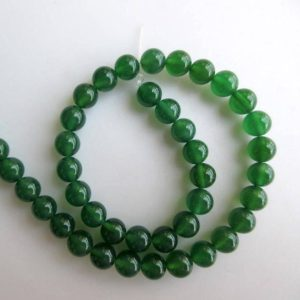 Shop Onyx Round Beads! Green Onyx Large Hole Gemstone Beads, 8mm Green Onyx Smooth Round Beads, Drill Size 1mm, 15 Inch Strand, Gds563 | Natural genuine round Onyx beads for beading and jewelry making.  #jewelry #beads #beadedjewelry #diyjewelry #jewelrymaking #beadstore #beading #affiliate #ad