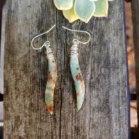 African Green Opal Earrings. Sterling Dilver Green Opal Earrings | Natural genuine Gemstone jewelry. Buy crystal jewelry, handmade handcrafted artisan jewelry for women.  Unique handmade gift ideas. #jewelry #beadedjewelry #beadedjewelry #gift #shopping #handmadejewelry #fashion #style #product #jewelry #affiliate #ad