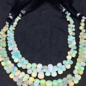 Shop Opal Bead Shapes! On Sale Rare Ethiopian Opal Plain Drops Beads, 5.30-7mm, 8 Inches Strand | Natural genuine other-shape Opal beads for beading and jewelry making.  #jewelry #beads #beadedjewelry #diyjewelry #jewelrymaking #beadstore #beading #affiliate #ad